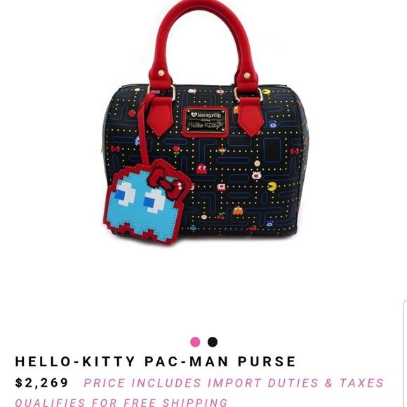 97be68505 Loungefly Handbags - Loungefly Hello Kitty Pac Man Maze Crossbody Bag h